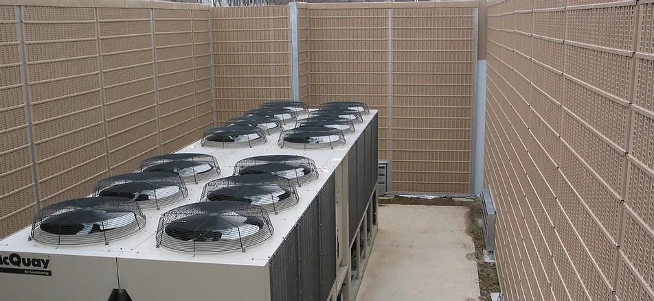 Çatılardaki mekanik cihazların ses yalıtımı